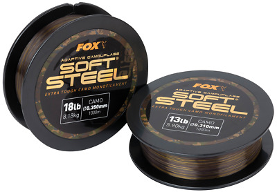 Fox Adaptive Camouflage Soft Steel Mono Fishing Line 1000m Spool • 15.99£