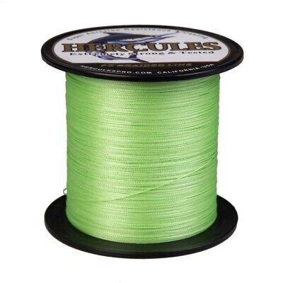 4 Strands Fluorescent Green 300M 1000M PE Braided Fishing Line Hercules Extreme • 21.49£