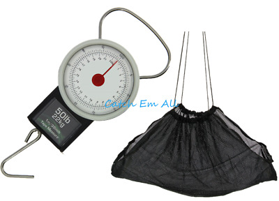 Fishing Weighing Scales 22kg / 50lb Carp Fishing Angling Pursuits With Sling • 11.95£