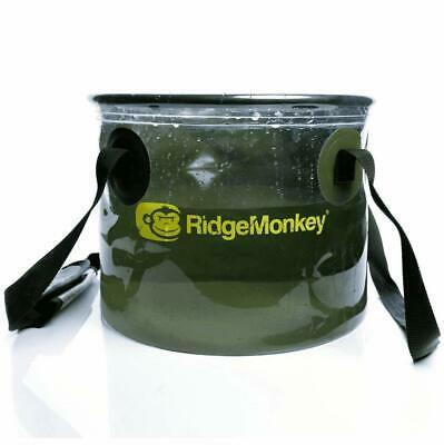 New RidgeMonkey Ridge Monkey Perspective Collapsible Water Bucket 50/50 10L • 12.89£