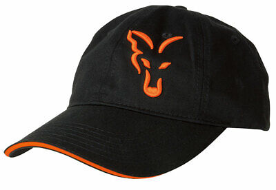New Fox Black & Orange Baseball Cap - CPR925 - One Size - Carp Fishing Hats • 13.98£