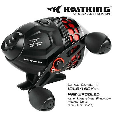 KastKing High Speed 4.0:1 Brutus Spincast Fishing Reel For Trount & Bass Fishing • 29.99£