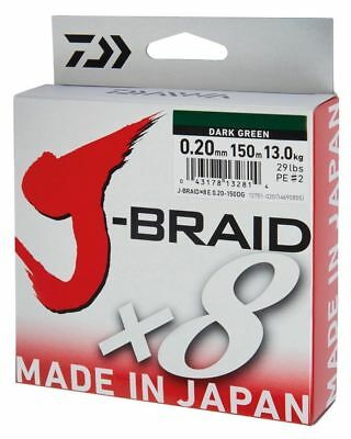 Daiwa J-braid X8 Fishing Line Spool All Colours & Breaking Strains • 23.64£