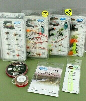 River & Stillwater Gift Set - Fly Fishing Essential Anglers Kit - Trout Flies • 24.99£