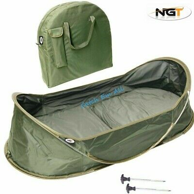 Carp Fishing Pop Up Cradle Unhooking Mat With Carry Case & Pegs Carp Fishing NGT • 48.95£