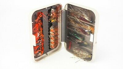 C & F Design Fly Box & Nice Selection Of Assorted Salmon Flies • 37.99£