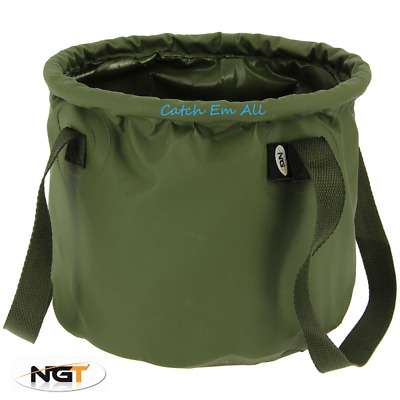 NGT Water Bucket 7L Carp Fishing Collapsible Waterproof PVC Ideal For Unhooking • 9.49£