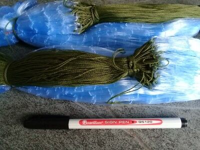 GILL NETS  (2 Nets)  20 Metres 4cm Mesh Size  2.5 Ft Depth FREE POST # • 58.50£