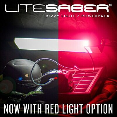 Saber Litesaber Bivvy Light Powerpack Rechargeable RED LED Nite Lite Fishing  • 21.95£