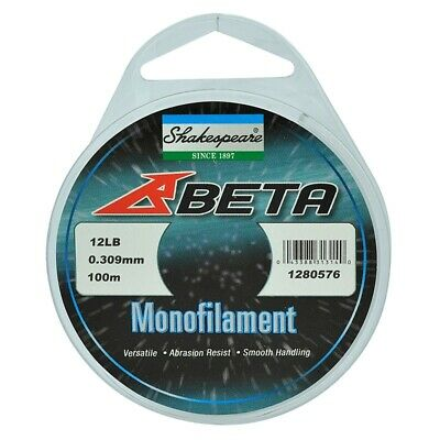Shakespeare Beta Saltwater Monofilament / Mono Fishing Line Clear 100m All Sizes • 2.79£