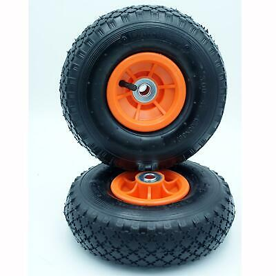 2 X Spare 10  X 3.00-4  INFLATABLE PNEUMATIC Wheel For Carp Fishing Trolley Sack • 16.95£