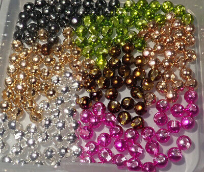Slotted Tungsten Fly Tying Beads, Choice Of Sizes And Colours • 3.20£