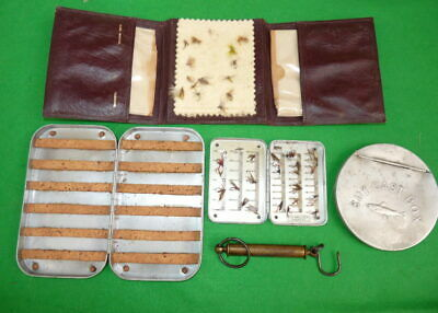 Hardy Vintage Fly Box, Alex Martin Wallet  & Malloch Flies OUTLET • 79£