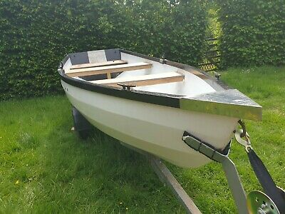 13  Foot Fishing Boat Tender Row Boat With Trailer And Outboard • 950£