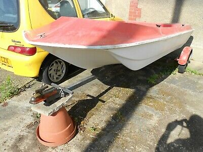 Speedboat/DORY And Road Trailer 10ft X 4ft 4in With Cathedral Hull • 120£