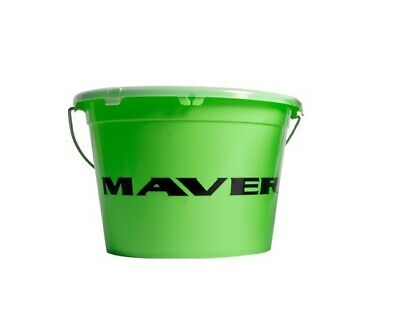 Maver Groundbait Bucket With Lid 13L Fishing Bait Container • 12.99£