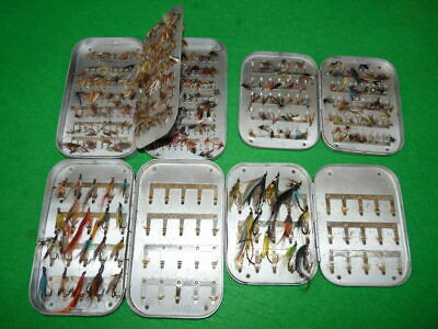 4 Wheatley & Hardy Vintage Pocket Alloy Fly Boxes Salmon Trout Flies 4 Collector • 99£