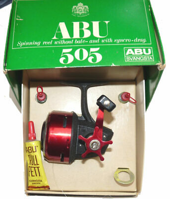 Abu Sweden 505 Vintage Closed Face Fishing Reel, Boxed With Spool Oilers Rull... • 99£