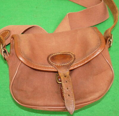 A Vintage Brady Canvas & Leather Cartridge Bag, Stamped To Rear, To Use Or Di... • 49£