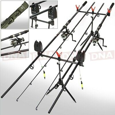 Full Carp Fishing 2 Rod And Reel Set Up With Bite Alarms Holdall Pod Tackle Rigs • 119.95£