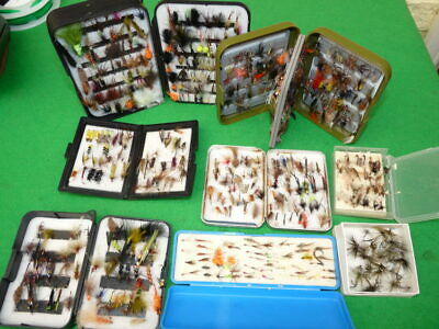 Good Collection Flies For Trout & Sea Trout, Wet Dry Lures Buzzers 8 Boxes • 79£