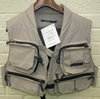 Hardy Fly Fishing Vest/ Waistcoat Size Large Old Shop Stock With Tags • 89£