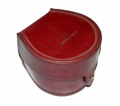 Hardy Block Leather Reel Case, Salmon Size For Perfects St Andrew Marquis Etc... • 119£