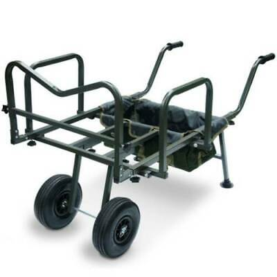 New Ngt Dynamic Carp Fishing Barrow Trolley Double Wheeled Coarse Angling Tackle • 96.99£