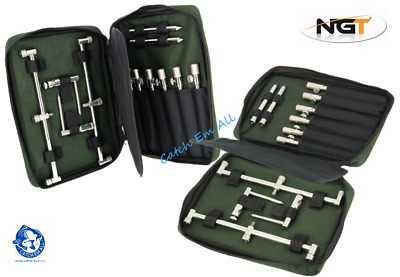 NGT Buzz Bar Case For Stainless Steel Bank Sticks Fits 30cm Bars Carp Fishing • 10.95£