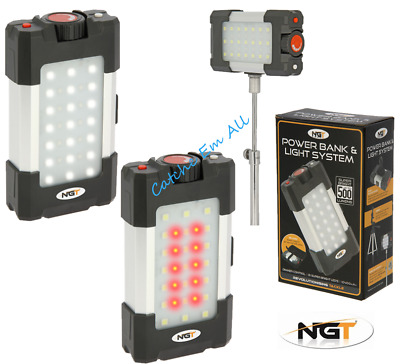 NGT Light 500 Lumens Light And Power Bank System With 10400mah Power With Case • 29.99£