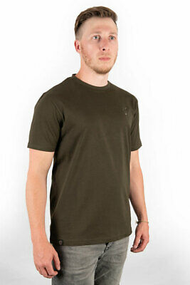 New Fox Khaki T Shirt Camo Green - All Sizes - Carp Fishing Clothing • 15.99£