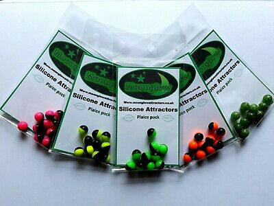 Moonglow Plaice Attractor Balls. Hi Viz Beads For Sea Fishing - Non Luminous  • 3£