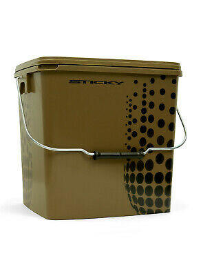 Sticky Baits Multi Purpose Bait Bucket With Lid Carry Handle Fishing Accessory • 7.99£
