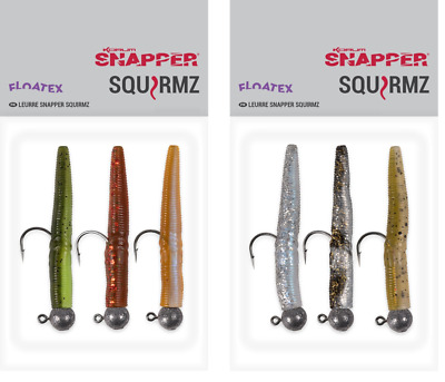 Korum Snapper Floatex Loaded Squirmz Choose Your Colour 3 Per Pack • 4.99£