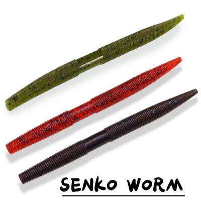 5 X Stick Worm Lure Senko 130mm Soft Rubber Shad For Wrasse, Bass, Perch Pike  • 3.99£