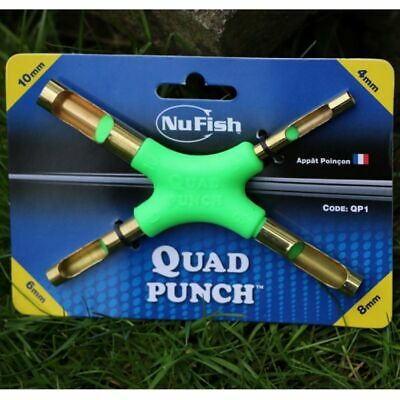 NuFish Quad Bait  Punch Meat And Bread Multi Punch 4,6,8 And 10mm  • 6.99£