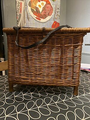 Vintage Wicker Fishing Basket/creel Very  Good Condition , ,no Damage • 30£