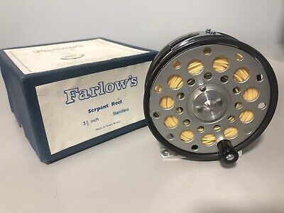 Farlow's Serpent Fly Reel 3.5 Inch Standard - Unused Boxed With Line • 35£