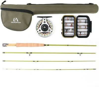 Maxcatch Ultra-lite Fly Fishing Fly Rod Combo Rod And Reel Outfit: 2wt/3wt 6'0 • 25£