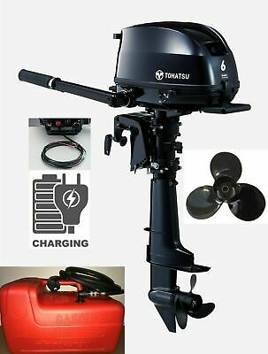 6HP Tohatsu Sail Pro Outboard High Thrust Drive Prop 12V Charging Latest Model!! • 1,195£