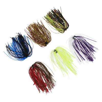 6 Bundles Silicone Skirts DIY Salty Rubber Jig Lures Squid Fishing Bait • 4.86£
