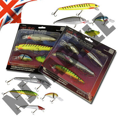 Lures Plug Pike Zander Perch Fishing Sets 8 Lures Plugs Tackle Dead Bait • 10.95£