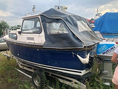 Hardy 18ft Fisher Fishing Boat 2 Stroke Suzuki Engine Serious Ppl Only • 4,200£