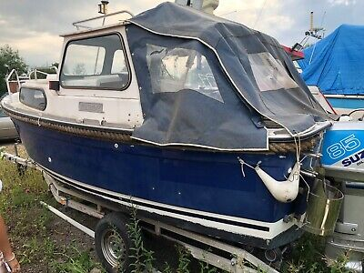 Hardy 18ft Fisher Fishing Boat 2 Stroke Suzuki Engine • 4,200£