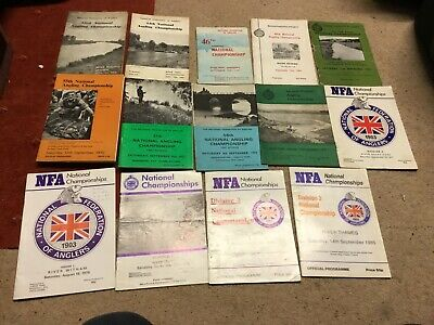 Angling Catalogues. National Angling Championship Booklets X 14 • 50£
