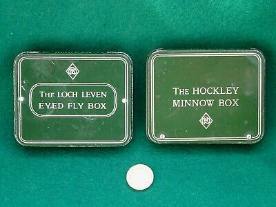 Richard Wheatley  Matching Pair. Loch Leven Eyed Fly Box & Hockley Minnow Box  • 19.99£
