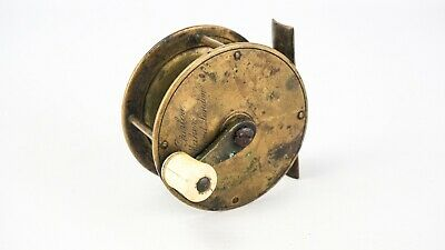 Early Farlows (london) 2 3/4  Brass Crank Wind Reel • 59.99£