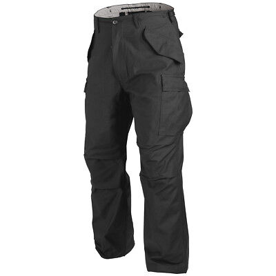 HELIKON GENUINE US M65 COMBAT CARGO MENS TROUSERS ARMY PANTS MILITARY NyCo BLACK • 36.90£