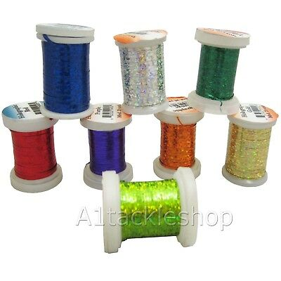 Veniard Fly Tying & Craft Holographic Mylar Tinsel Choose Colours & Thickness • 3.45£