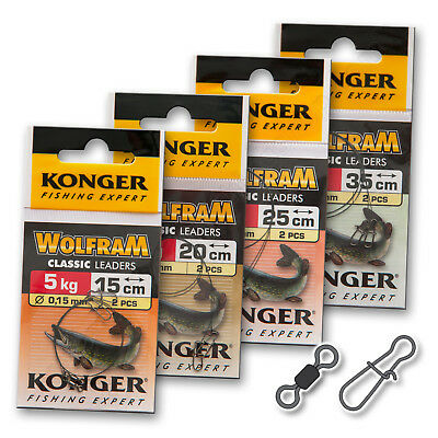 Wire Traces Leader 5kg 10lb Tungsten Wolfram Fishing Tackle Pike Perch • 9.50£
